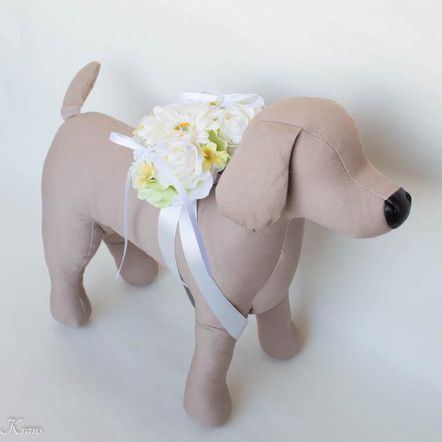 ハート型結婚式犬用リングピロー7