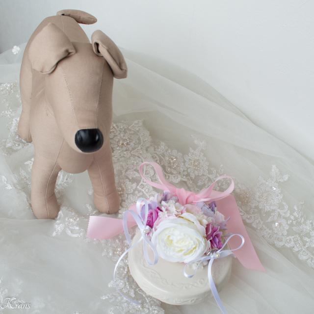 リングピロー犬用首輪型リングドッグ