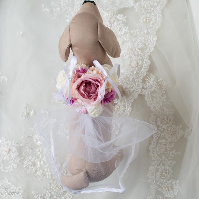 トイプードル結婚式ドレスリングドッグ1