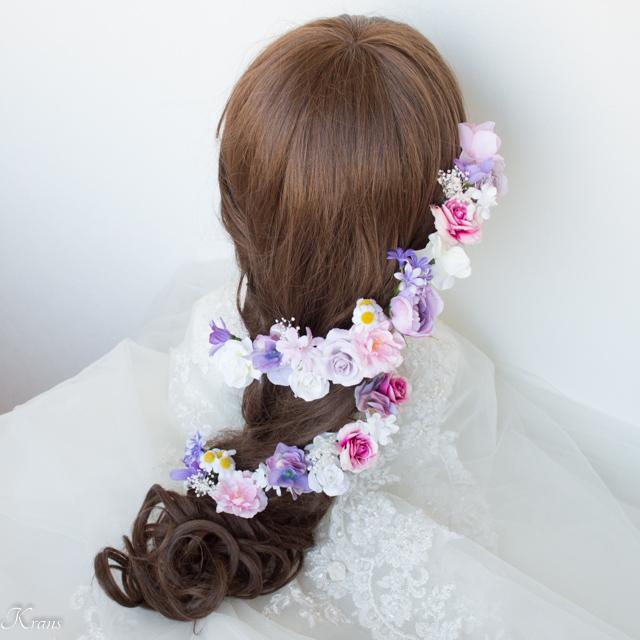 ラプンツェル結婚式髪飾り