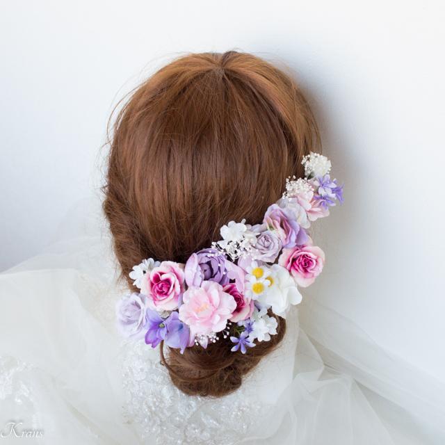 可愛い花の結婚式成人式髪飾り