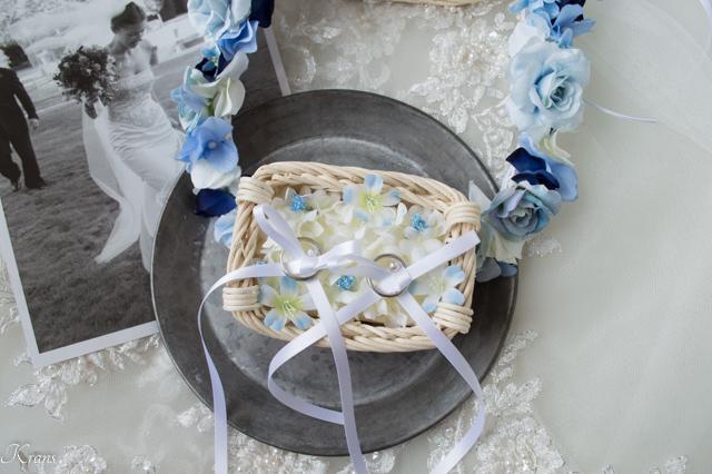 トイプー用リングピロー結婚式