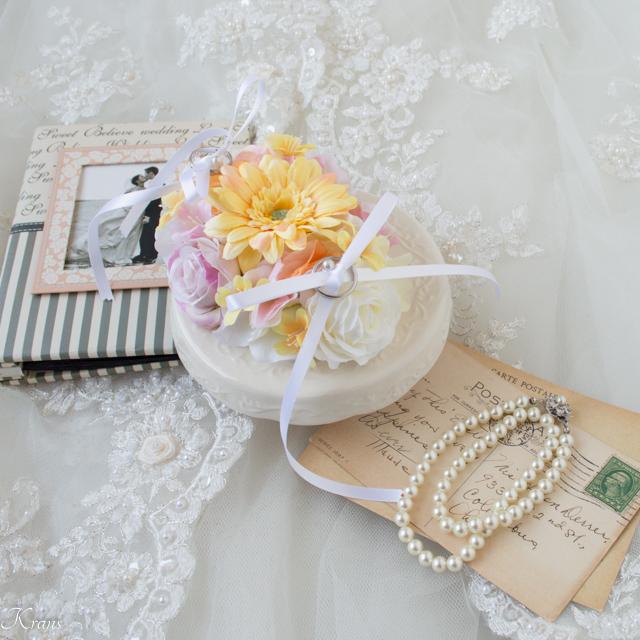 柴犬結婚式リングピロー3