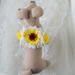 ひまわりリングピロー犬結婚式演出4