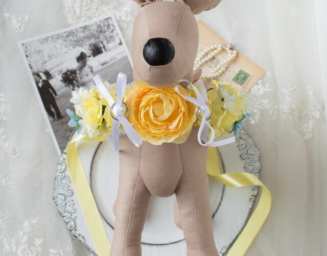 首輪リングピロー犬結婚式1
