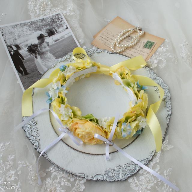 首輪リングピロー犬結婚式5