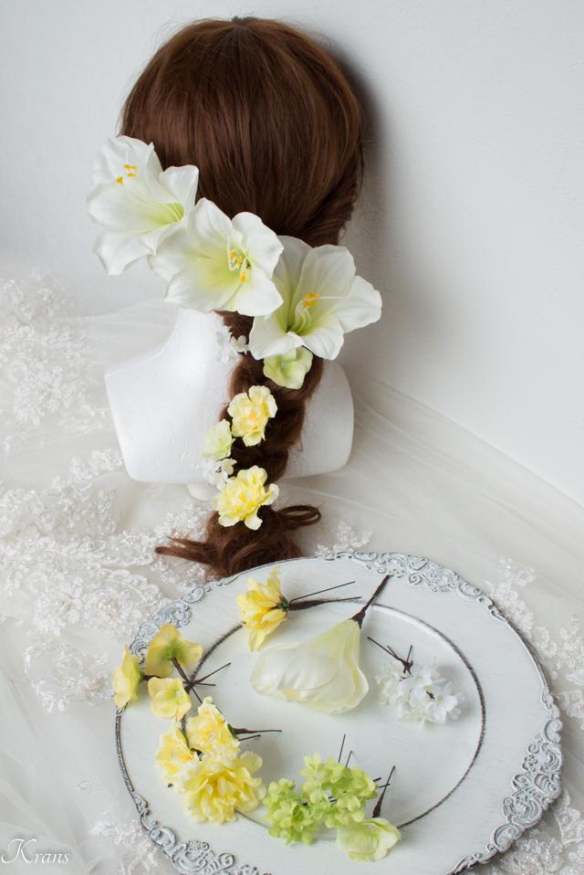 結婚式髪飾りアマリリス